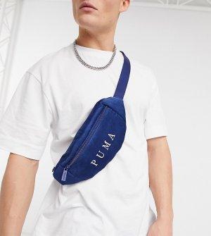 Темно-синяя вельветовая сумка-кошелек на пояс с логотипом Puma