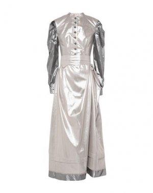 Длинное платье ANDREAS KRONTHALER x VIVIENNE WESTWOOD. Цвет: серебристый