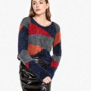 Пуловер с рукавами реглан геометрическим принтом BEST MOUNTAIN. Цвет: разноцветный