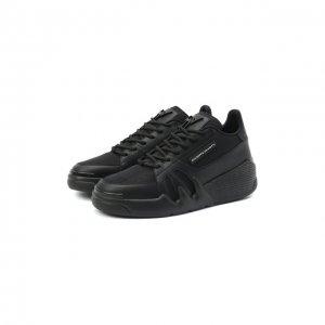 Комбинированные кроссовки Giuseppe Zanotti Design. Цвет: чёрный