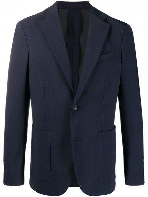 Однобортный пиджак Traiano Milano. Цвет: синий