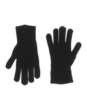 Перчатки DIRK BIKKEMBERGS SPORT COUTURE. Цвет: черный