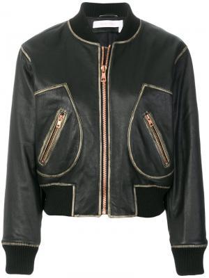 Классическая куртка-бомбер See By Chloé. Цвет: черный