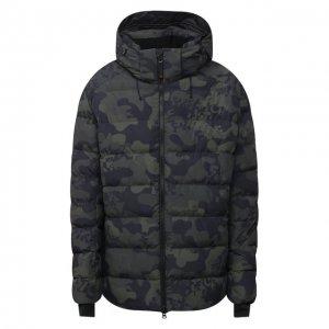 Утепленная куртка Bogner. Цвет: хаки