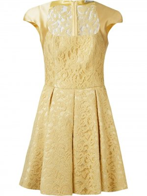 Marescot lace flared dress Martha Medeiros. Цвет: желтый