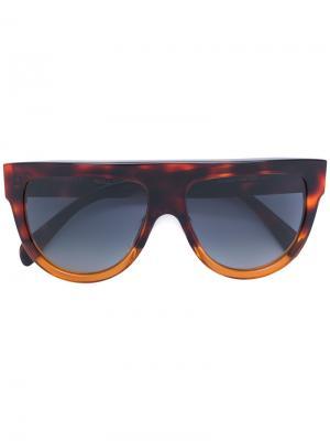 Солнцезащитные очки с D-образной оправой Celine Eyewear. Цвет: коричневый