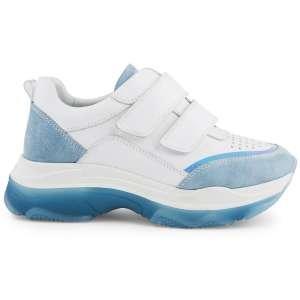 Сникерсы Ekonika EN8191-02 white/lt.blue-20L. Цвет: белый/голубой