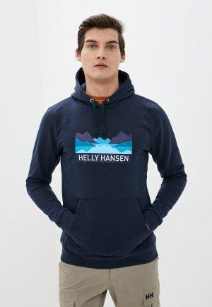 Худи Helly Hansen NORD GRAPHIC PULL OVER HOODIE. Цвет: синий