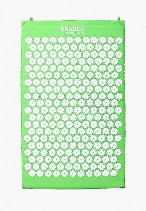 Массажер для тела Bradex Коврик акупунктурного массажа Нирвана, 65х40х2 см. Цвет: зеленый