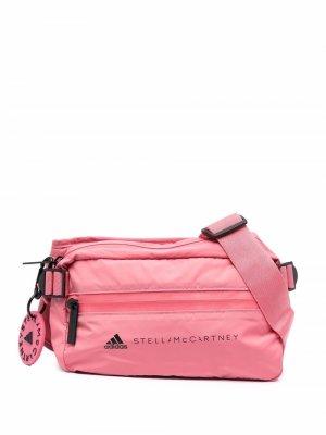 Ogo-print belt bag adidas by Stella McCartney. Цвет: розовый