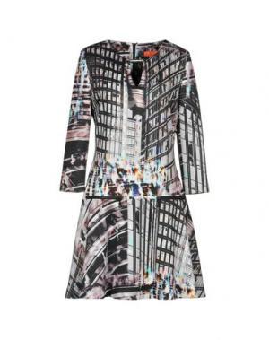 Короткое платье ALBA CONDE. Цвет: светло-серый