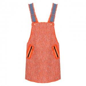 Хлопковый сарафан Steve J & Yoni P. Цвет: оранжевый