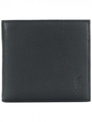 Бумажник с логотипом Polo Ralph Lauren. Цвет: черный