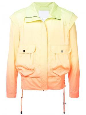 Куртка-бомбер с тонально-градиентным эффектом Ports V. Цвет: желтый