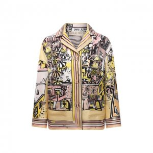 Шелковая рубашка Emilio Pucci. Цвет: разноцветный