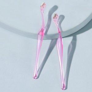 Прозрачный триммер для бровей 2шт SHEIN. Цвет: розовые