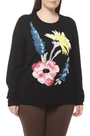 Пуловер Escada. Цвет: черный, цветы
