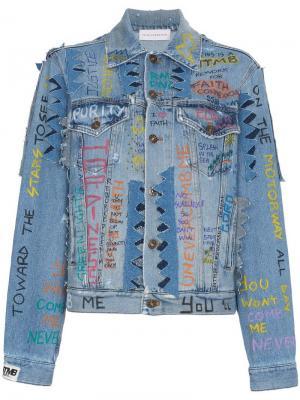 Джинсовая куртка Graffiti Faith Connexion. Цвет: синий