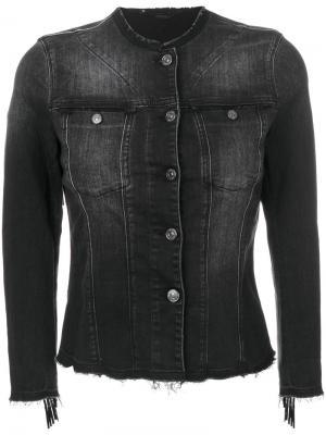 Джинсовая куртка с бахромой 7 For All Mankind. Цвет: серый