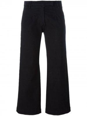 Расклешенные брюки-капри Current/Elliott. Цвет: черный