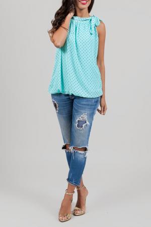 Блуза ANABELLE. Цвет: turquoise