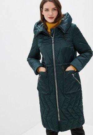 Куртка утепленная Electrastyle. Цвет: зеленый