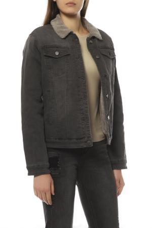 Джинсовая куртка KRAPIVA. Цвет: dark