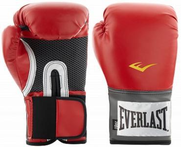 Перчатки тренировочные PU Pro Style, размер 10, цвет: красный, 10 oz. Everlast. Цвет: красный