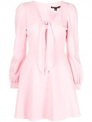 Платье Ellen с завязками Black Halo. Цвет: розовый