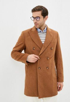 Пальто Al Franco. Цвет: коричневый