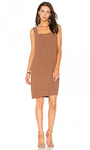 Мини майка-платье Raquel Allegra. Цвет: коричневый