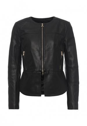 Куртка кожаная Patrizia Pepe PA748EWPAF12. Цвет: черный