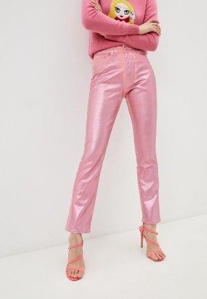 Брюки Chiara Ferragni Collection. Цвет: розовый