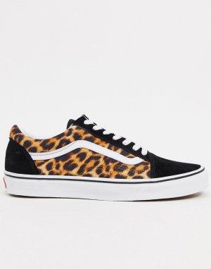 Кроссовки с леопардовым принтом Old Skool-Многоцветный Vans