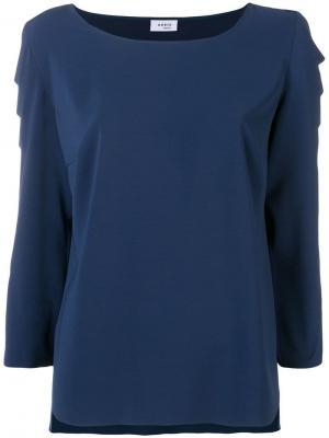 Блузка с фестонами на рукавах Akris Punto