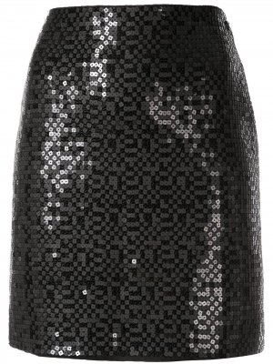 Мини-юбка с пайетками Chanel Pre-Owned. Цвет: черный