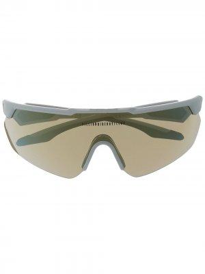 Солнцезащитные очки-маска Billionaire Boys Club. Цвет: белый