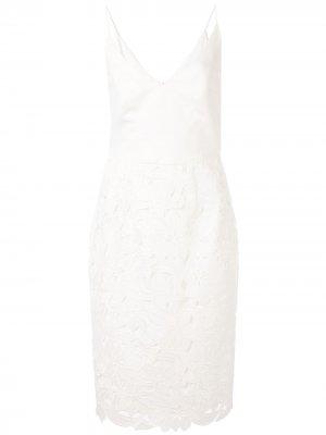 Платье с цветочной вышивкой Black Halo. Цвет: белый