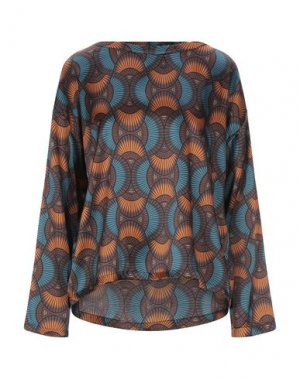 Блузка ATTIC AND BARN. Цвет: цвет морской волны