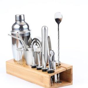 1 набор Инструмент для приготовления коктейлей из нержавеющей стали SHEIN. Цвет: серебряные