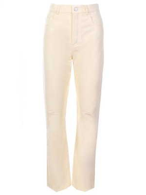 Прилегающие джинсы CELINE. Цвет: желтый