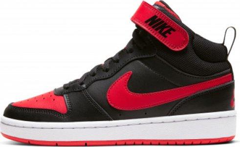Кеды высокие для мальчиков Court Borough Mid 2 (Gs), размер 36.5 Nike. Цвет: черный