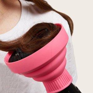 Телескопическая крышка фена SHEIN. Цвет: розовые