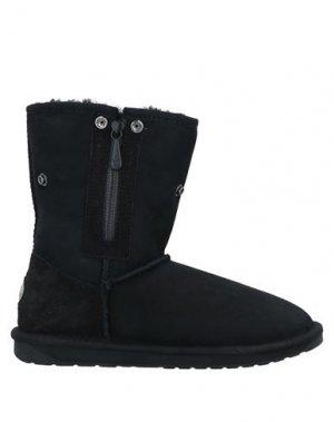 Полусапоги и высокие ботинки EMU. Цвет: черный