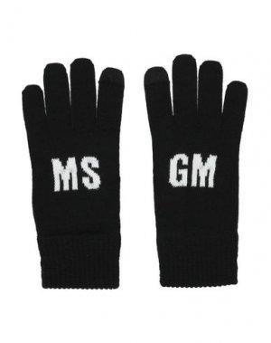 Перчатки MSGM. Цвет: черный