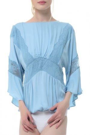 Блуза-боди Arefeva. Цвет: голубой
