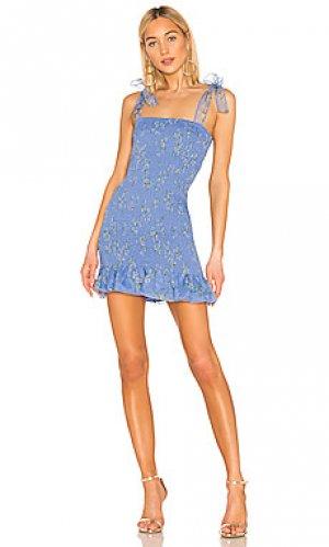 Платье amara Amanda Uprichard. Цвет: синий