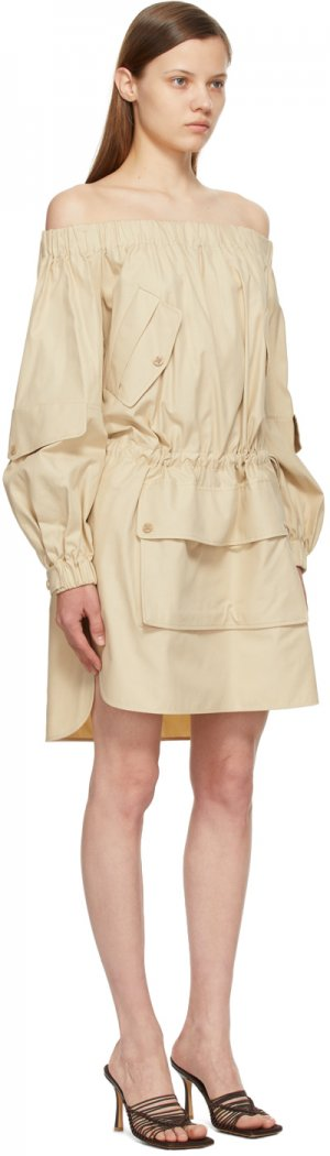 Beige Emanuel Dress Max Mara. Цвет: 010 albino