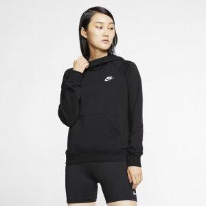 Женская флисовая худи с воротником-трубой Nike Sportswear Essential - Черный
