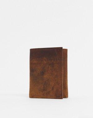 Коричневый бумажник Peter Werth